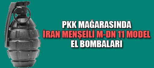 PKK sığınağında İran yapımı el bombaları