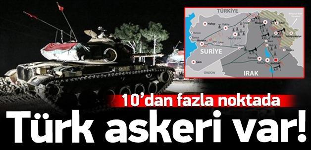 Irak'ta 10 farklı noktada Türk askeri
