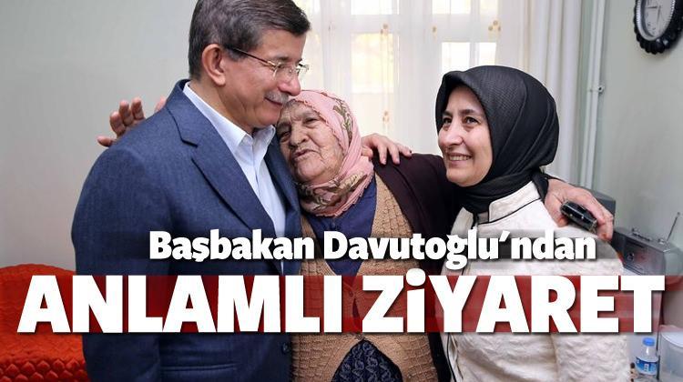 Başbakan Davutoğlu'dan anlamlı ziyaret