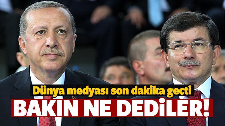 Erdoğan-Davutoğlu görüşmesi dünya basınında