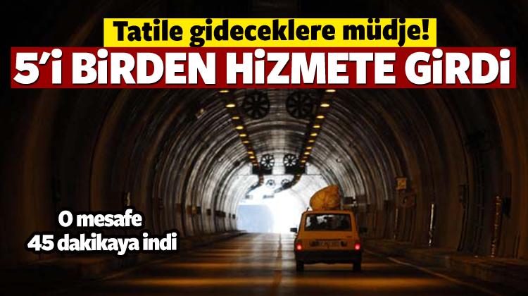 Turizm cenneti Orta Anadolu'ya tünellerle bağlandı