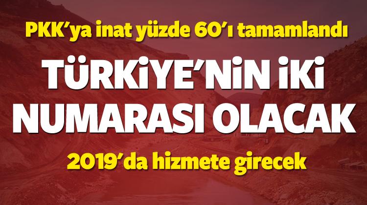 PKK'ya rağmen yüzde 60'yı tamamlandı
