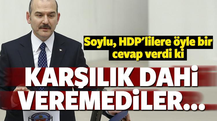Bakan Soylu'dan HDP'lilere tokat gibi cevap
