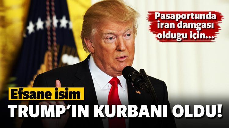 Efsane isim Donald Trump'ın kurbanı oldu!