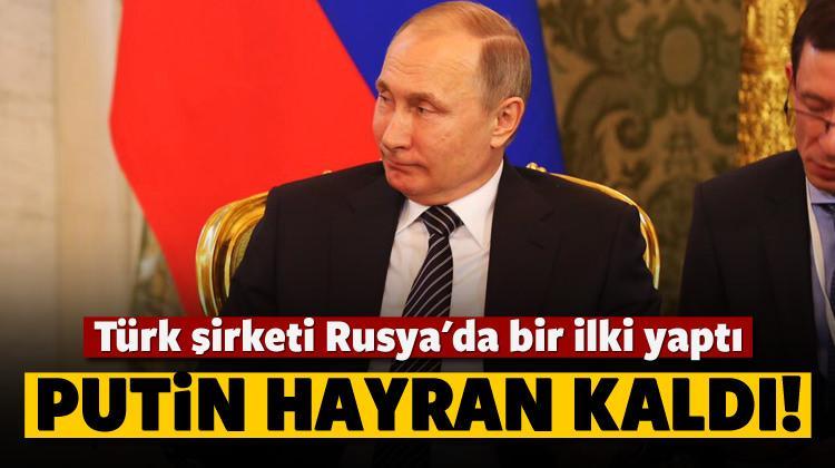 Türk eserini gören Putin hayran kaldı! 'Mükemmel'