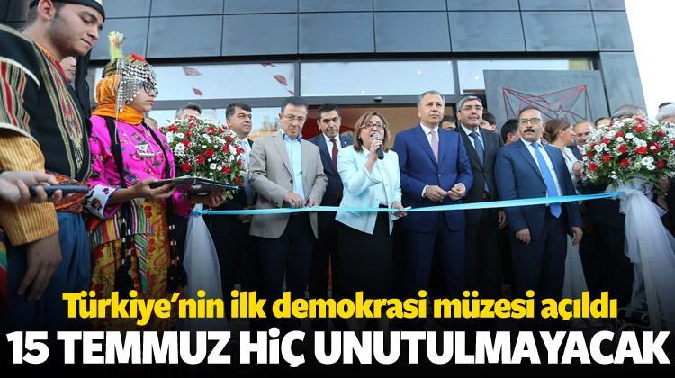 Türkiye'nin ilk demokrasi müzesi açıldı