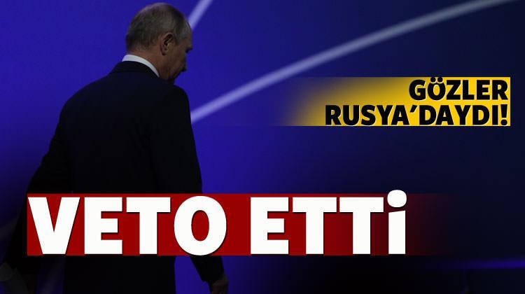Rusya baskılara rağmen veto etti