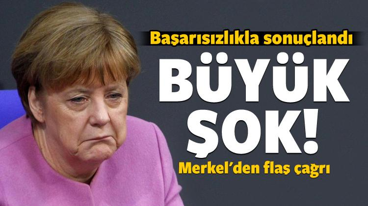 Başarısızlıkla sonuçlandı: Merkel'den flaş çağrı!