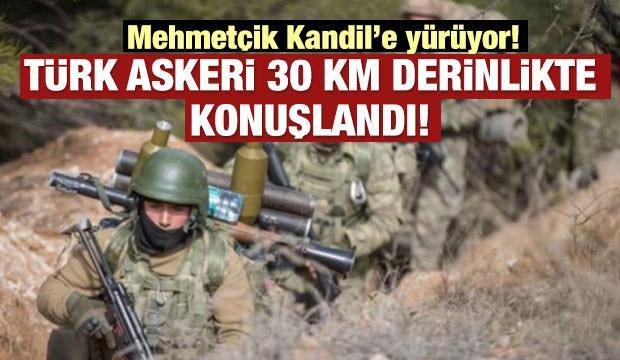 Yıldırım: Türk askeri 30 km derinlikte konuşlandı