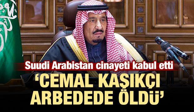 Suudi Arabistan cinayeti kabul etti