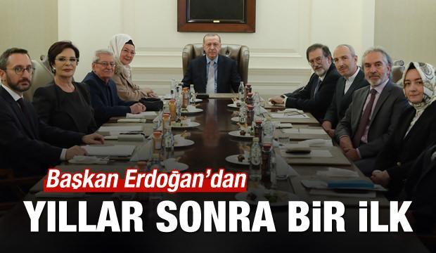 Başkan Erdoğan'dan yıllar sonra bir ilk!