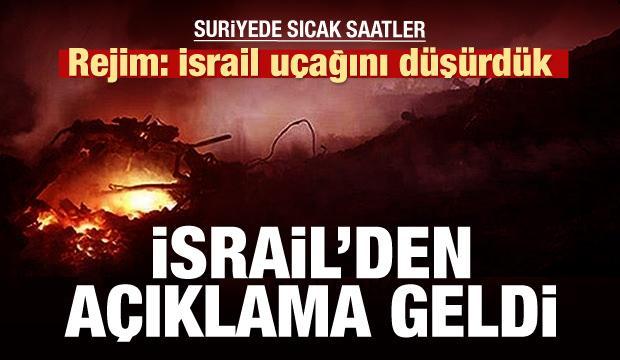 Esed rejimi: İsrail uçağını düşürdük!