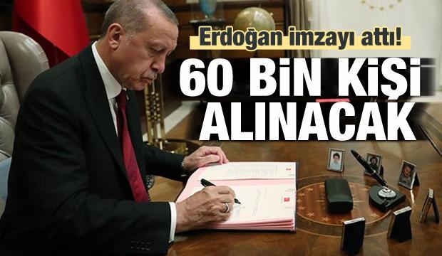 2020'de hangi kurum kaç personel alacak? Erdoğan imzayı attı