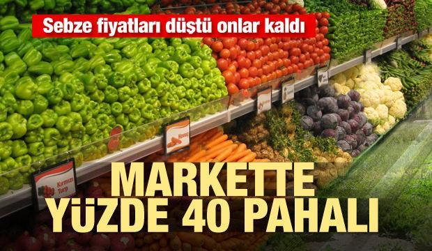 Sebze fiyatları düştü onlar kaldı! Markette yüzde 40 pahalı