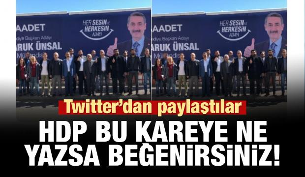 HDP her şeyi açık etti! Twitter'dan 'Saadet' paylaşımı!