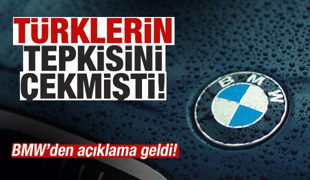 Türklerin tepkisini çekmişti! BMW'den açıklama geldi