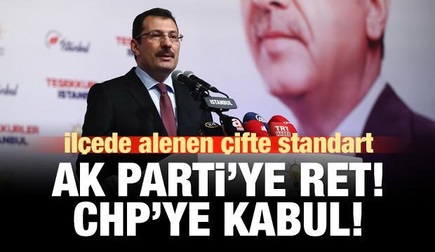 AK Parti'den Sancaktepe açıklaması: Bize ret, CHP'ye kabul!