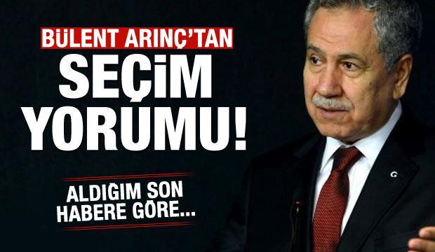 Bülent Arınç'tan yerel seçim açıklaması