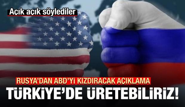 Rusya'dan ABD'yi kızdıracak S-400 açıklaması: Türkiye'de üretebiliriz