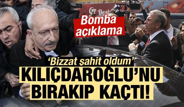 Yavaş, Kılıçdaroğlu'nu bırakıp kaçmış!