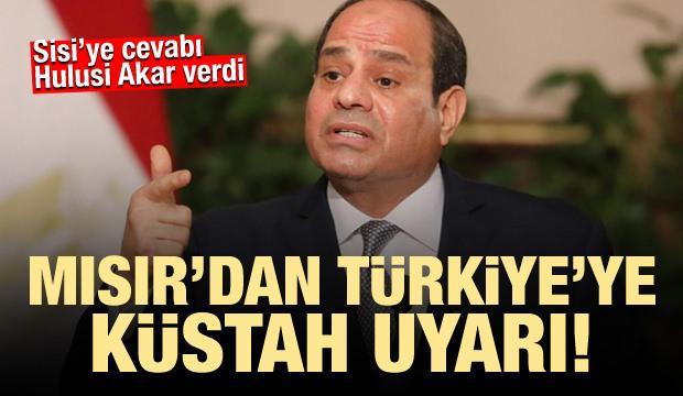 Mısır'dan Türkiye'ye skandal uyarı! Hulusi Akar'dan sert cevap