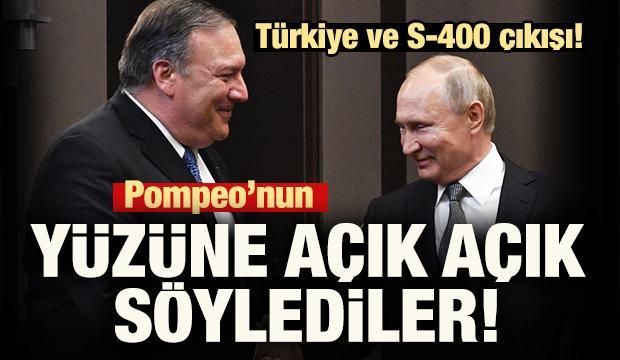 Pompeo'nun yüzüne açık açık söylediler! Türkiye ve S-400 açıklaması