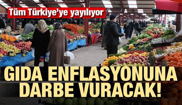 Gıda enflasyonuna darbe vuracak! Tüm Türkiye'ye yayılıyor