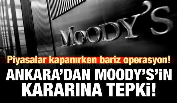 Hazine ve Maliye Bakanlığı'ndan Moody's'e tepki!