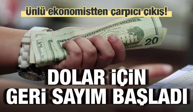 Ünlü ekonomistten çarpıcı dolar çıkışı!