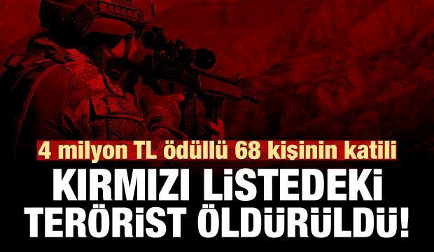 İçişleri Bakanlığı: Kırmızı listedeki terörist öldürüldü!
