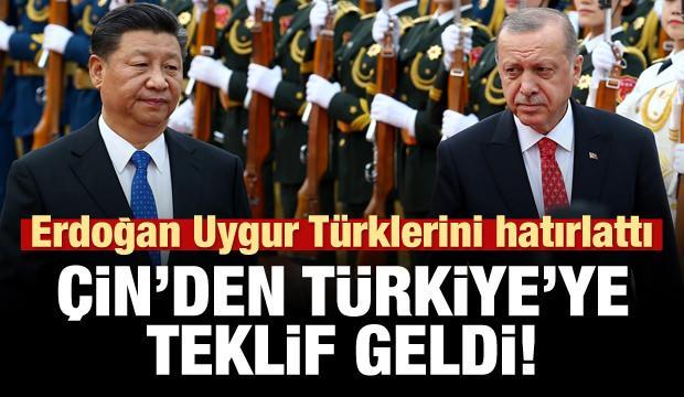 Erdoğan Uygurlar'ı gündeme getirdi! Çin'den Türkiye'ye teklif!