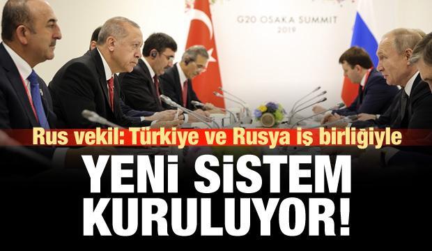 'Türkiye-Rusya iş birliğiyle yeni bölgesel güvenlik sistemi kuruluyor'