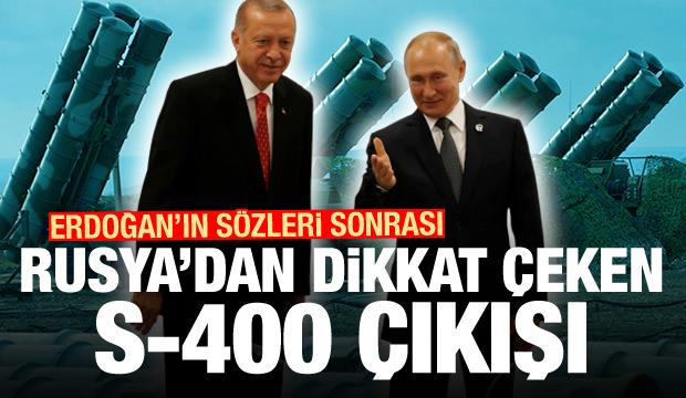 Erdoğan'ın sözleri sonrası Rusya'dan dikkat çeken S-400 çıkışı