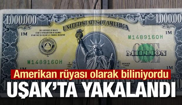 1 milyon dolarlık banknot Uşak'ta ele geçirildi