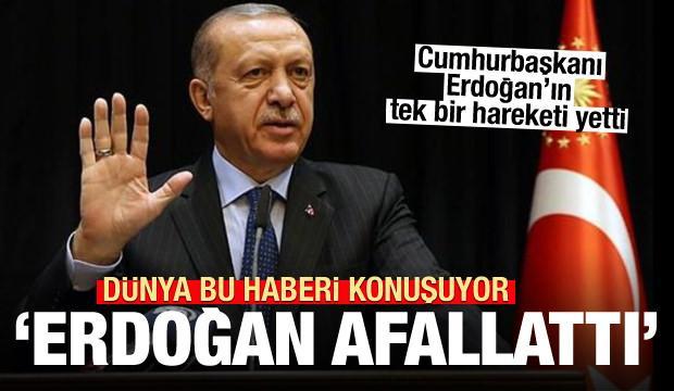 Dünya bu haberi konuşuyor: Erdoğan'ın tek bir hareketi afallattı