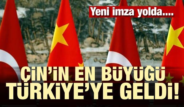 Çin'in en büyüğü Türkiye'ye geldi! Yeni imza yolda...