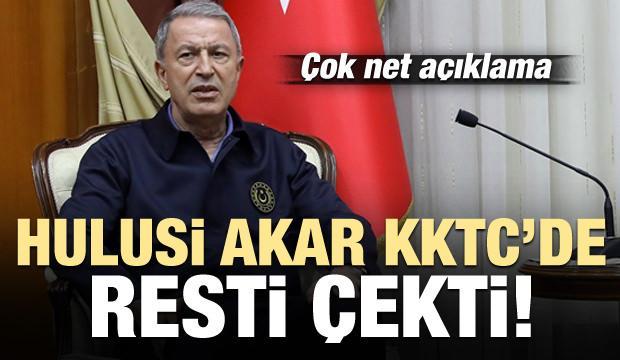 Bakan Akar'dan Kıbrıs resti! Net açıklama...