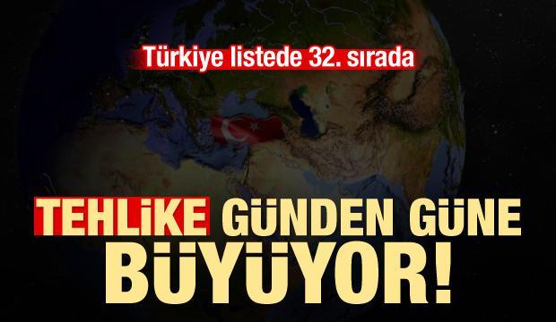 Tehlike günden güne büyüyor: Türkiye 32. sırada!