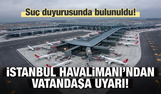 İstanbul Havalimanı'ndan 'iş ilanı' uyarısı