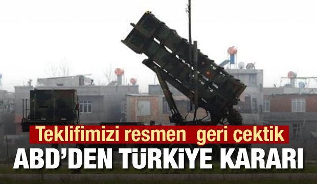 ABD'li yetkili duyurdu: Türkiye'ye teklifimizi geri çektik