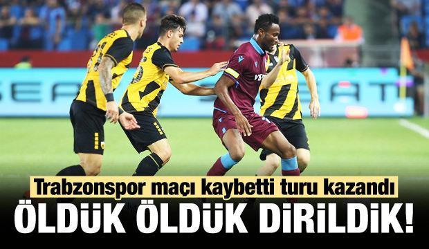 Trabzonspor maçı kaybetti turu kazandı!