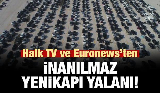 Euronews ve Halk TV'den inanılmaz Yenikapı yalanı!