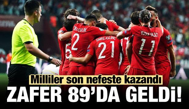 Milli Takım 89. dakikada kazandı!