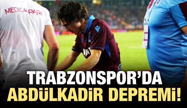 Trabzonspor'da Abdülkadir Ömür depremi!