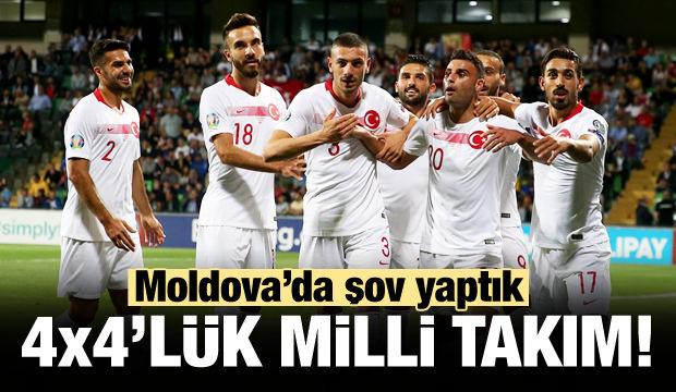 Milli Takım'dan dört dörtlük zafer!