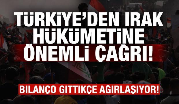 Dışişleri Bakanlığı'ndan Irak hükümetine kritik çağrı!