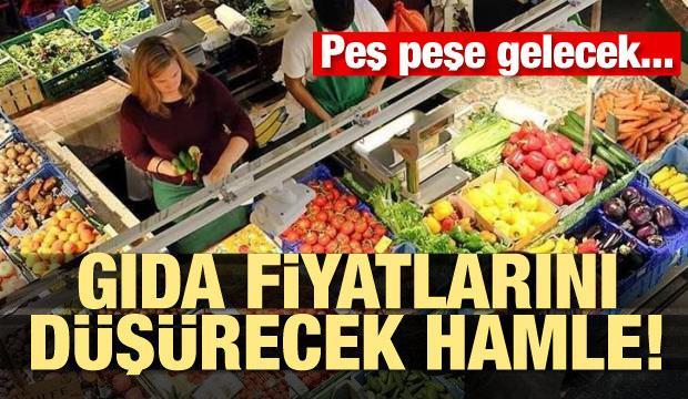 Gıda fiyatlarını düşürecek hamle! Peş peşe gelecek...