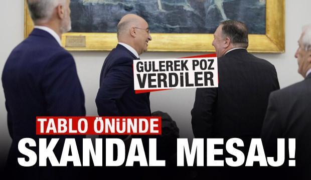 Yunanistan'da Türkiye'ye skandal mesaj!