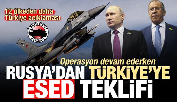 14 ülkeden operasyon açıklaması! Rusya'dan Türkiye'ye Esed teklifi