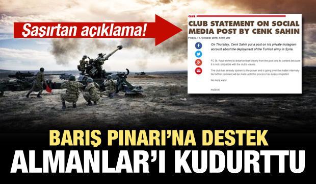 Barış Pınarı'na destek Almanlar'ı çıldırttı!